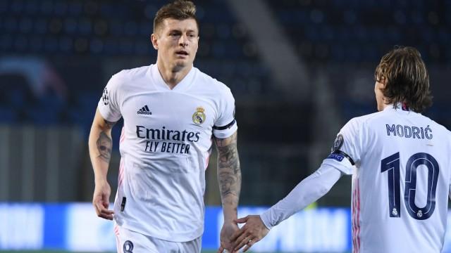 Real Madrid: Toni Kroos in der Champions League gegen Atalanta Bergamo