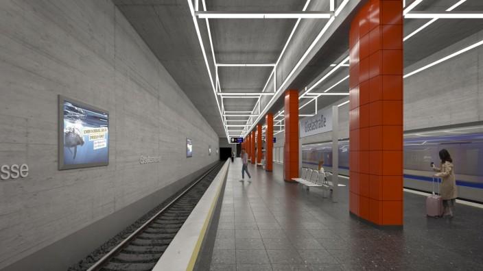 Simulation U-Bahnhof Giselastraße
