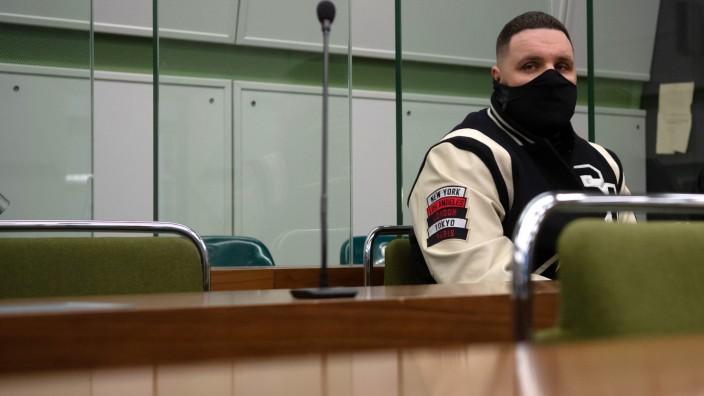 Vor Gericht in Berlin: Rapper Fler während einer Verhandlung