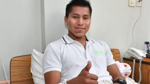 Survivor of Colombia plane crash leaves hospital