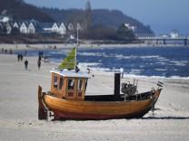 Strand von Ahlbeck auf der Insel Usedom