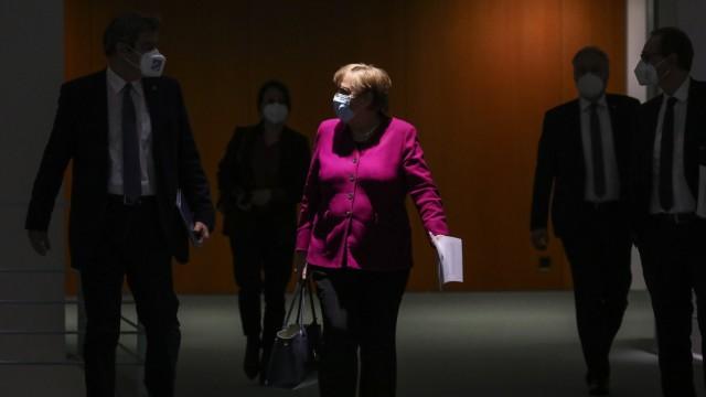 Merkel And States Leaders Meet Over Lockdown Policy