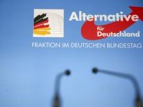 AfD-Logo im Deutschen Bundestag