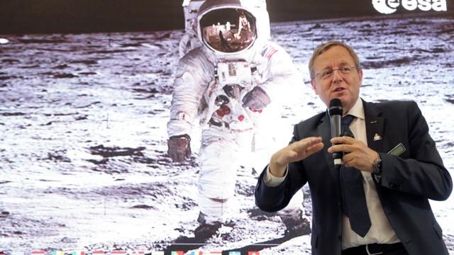 June 18 2019 Le Bourget France European Space Agency ESA Director General Johann Dietrich Worn