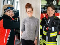 Regina Poberschnigg (l), Alisa Schneider (M), Angela Köck