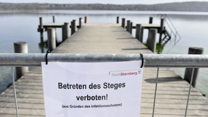 Starnberg, gesperrte Steg