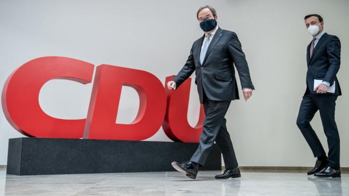 CDU Pressekonferenz mit Armin Laschet