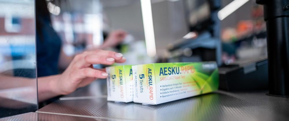 Coronavirus - Vorbereitung auf Schnelltest-Verkauf bei Aldi Nord
