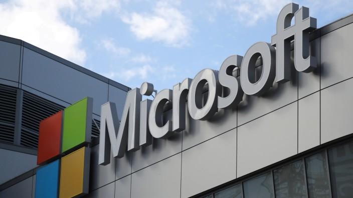 Logo von Microsoft in Los Angeles