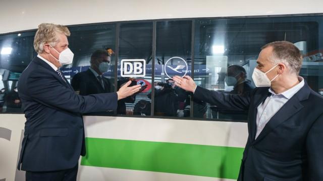 Zusammenarbeit von Lufthansa und Deutscher Bahn