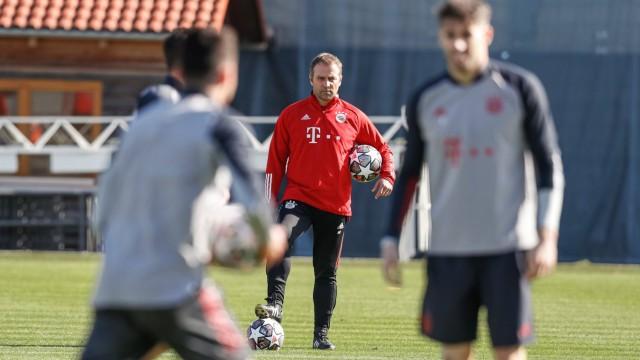 FC Bayern München Training vor Champions League Spiel Fußball, GER, München, 22.02.2021, FC Bayern München Training vor