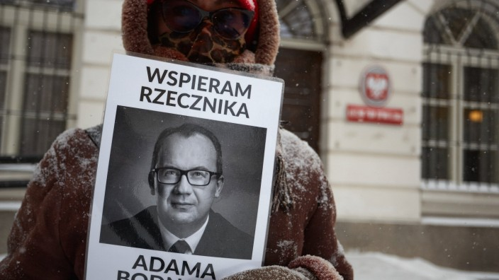 February 8, 2021, Warsaw, Mazovian, Poland: Report of the Commissioner Human Rights Poland in 2020 .in the picture: ADA