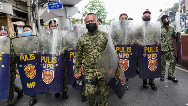 Women's Day protest, in Manila, Philippinen