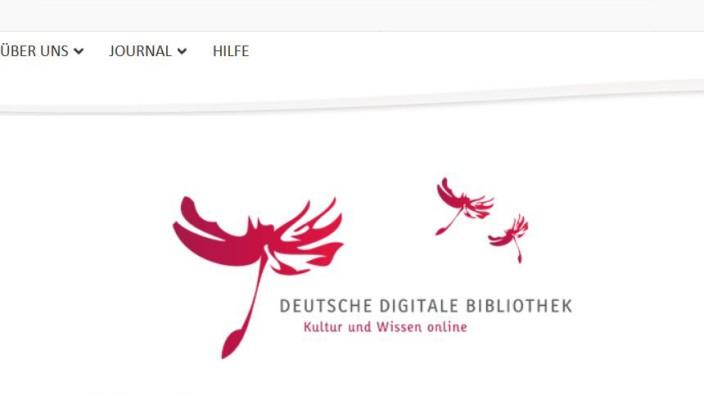 """Screenshot der Website """"Deutsche Digitale Bibliothek"""""""