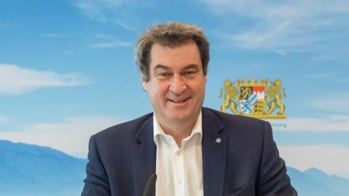 CSU-Chef Markus Söder bei einer Sitzung des bayerischen Kabinetts