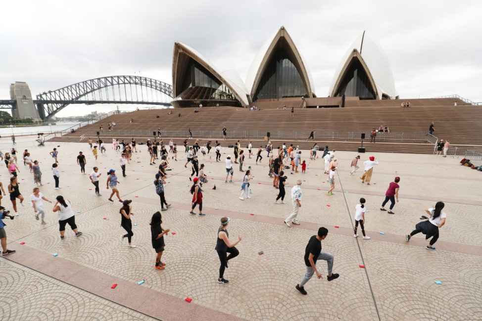 BESTPIX - Sydneysiders Take Part In Outdoor Dance Classes At Sydney Opera House