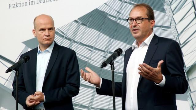 CDU/CSU im Bundestag: Ralph Brinkhaus und Alexander Dobrindt zur Maskenaffäre