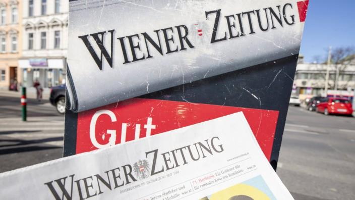 Älteste Tageszeitung der Welt: Wiener Zeitung *** Oldest daily news paper of the world: ,,Wiener Zeitung Die Wiener Zeit