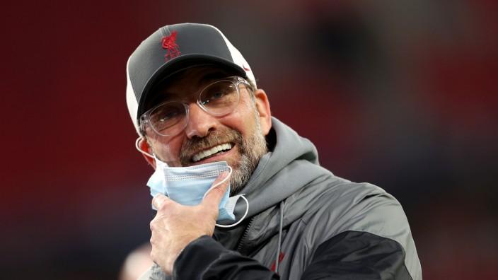 Champions League: Jürgen Klopp beim Spiel FC Liverpool FC gegen RB Leipzig