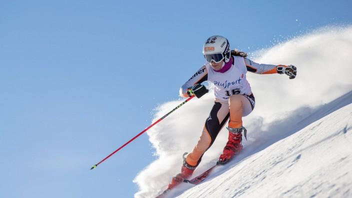 World Para Alpine Skiing Europa Cup St. Moritz 2020; St. Moritz, 16.12.2020 Anna-Maria Rieder aus Deutschland beim World; Anna-Maria Rieder aus Deutschland beim World Para Alpine Skiing Europa Cup St. Moritz am 16.12.2020