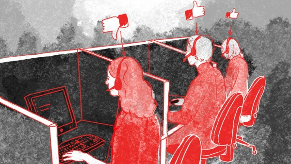 jtzt horrornebenjob callcenter meinungsumfrage / Illustration: Daniela Rudolf-Luebke
