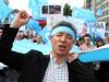 Demonstrierende Uiguren in München, 2009