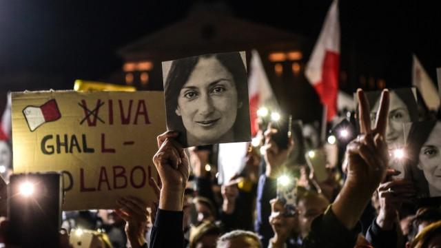 Malta: Proteste in Valletta, die eine Aufklärung des Mordes an Daphne Caruana Galizia fordern