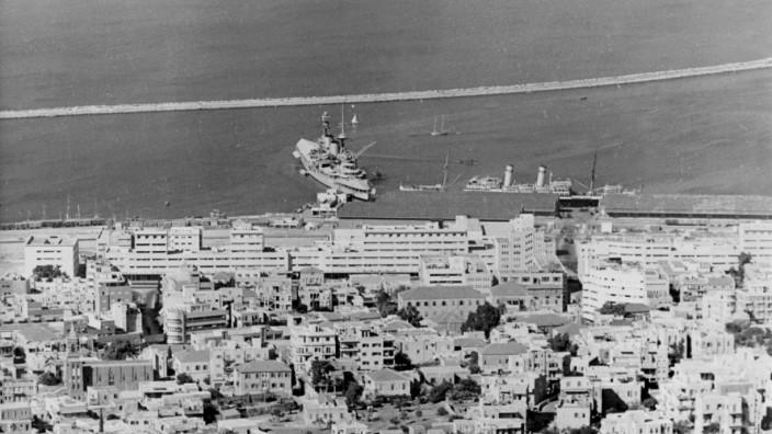 Hafenanlage von Haifa, 1938
