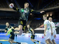 Handball Berlin 13.03.2021 Olympiaqualifikation Olympia Qualifikation Deutschland (GER) - Slowenien (SLO) Hendrik Pekele