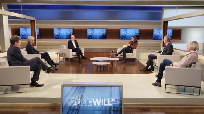 Anne Will; Fotos ANNE-WILL-Sendung vom 14.03.2021