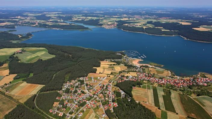 Der Große Brombachsee im Fränkischen Seenland