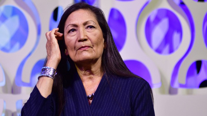 July 13 2019 Philadephia Pennsylvania United States Rep Deb Haaland D NM takes part in a p