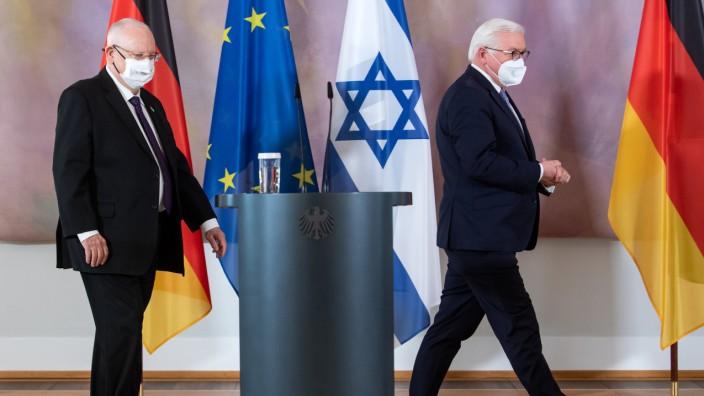 Israels Präsident Rivlin bei Bundespräsident Steinmeier