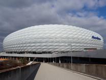 Muenchen, Deutschland 27. Februar 2021: 1. BL - 2020/2021 - FC Bayern Muenchen vs. 1. FC Koeln Aussenansicht der Allian