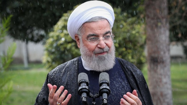 March 17, 2021, Tehran, Iran: A handout photo made available by the presidential office shows Iranian President Hassan R