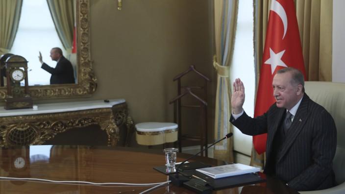 Videokonferenz zwischen der EU und der Türkei