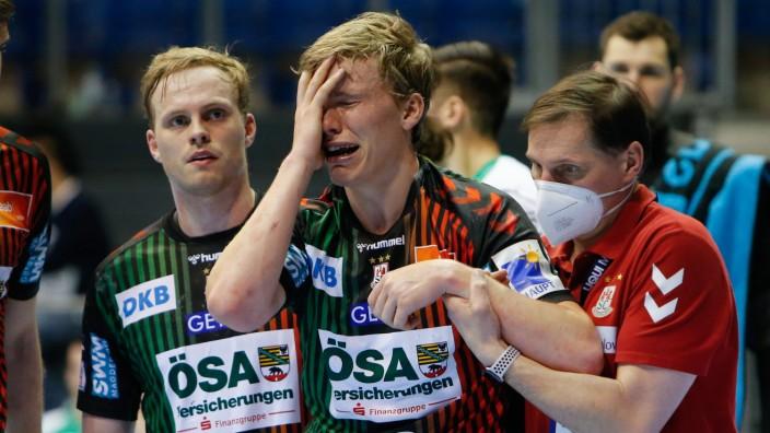 21.03.2021, xgox, Handball LIQUI MOLY HBL, SC Magdeburg - Fuechse Berlin emspor, v.l. Gisli Thorgeir Kristjansson (Magde