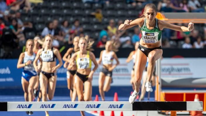 Deutsche Leichtathletik Meisterschaften Berlin 04 08 2019 Sicherte sich souveraen den 3000m Hinder; Gesa Krause