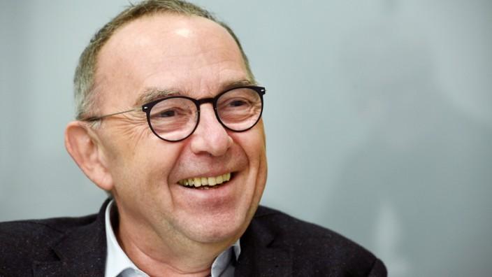 Deutschland, Düsseldorf, 14.11.2019 Norbert Walter-Borjans, SPD, Kandidat fuer den SPD-Bundesvorsitz Intervie Borjans *