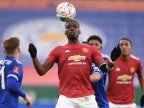 Manchester United's Paul Pogba in action - FA Cup Quarter Final - Leicester City v Manchester United
