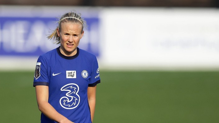 Chelsea'!s Pernille Harder during the The FA Women'!s Super League match at Chigwell Construction Stadium, London. Picture; Fußball - Chelsea - Pernille Harder