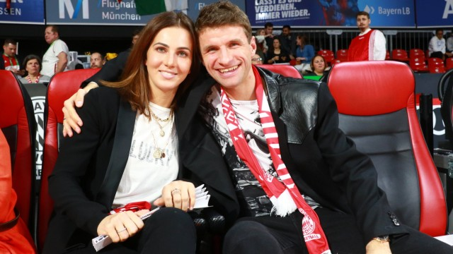 Sports Pictures of the Day Soccer player Thomas Müller and wife Lisa / Basketball / Euroleague / FC Bayern Basketball - Zalgir