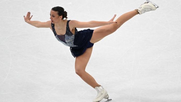 Eiskunstlauf: Eine Drehung zu wenig: Für die fünfmalige deutsche Meisterin Nicole Schott steht nach dem Kurzprogramm nur Platz 20 zu Buche.