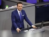 Mark Hauptmann in der 202. Sitzung des Deutschen Bundestages im Reichstagsgebäude. Der Thüringer CDU-Bundestagsabgeordne