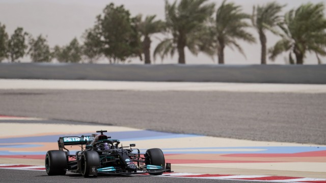 March 13, 2021, Sakhir, Bahrain: LEWIS HAMILTON of Great Britain and Mercedes-AMG F1 Team drives during day two of the 2