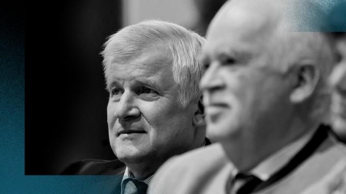 CSU: Waren eng verbunden: Horst Seehofer und sein damaliger CSU-Vize Peter Gauweiler (vorne).