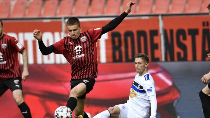 20.03.2021 - Fussball - Saison 2020 2021 - 3. Fussball - Bundesliga - 29. Spieltag: FC Ingolstadt FCI (Schanzer) - SV Wa; Filip Bilbija FC Ingolstadt 04