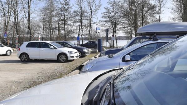Wörthsee, Parkplatz am Rossschwemme