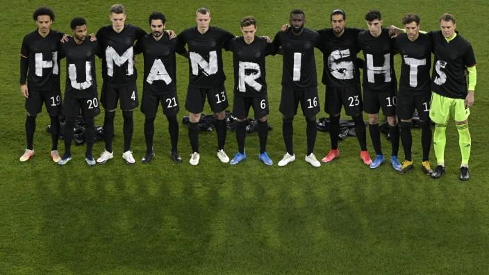 WM-Qualifikation 2021: Deutsche Nationalmannschaft vor dem Spiel gegen Island