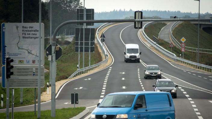 FREISING: Strassenkreuzung WESTTANGENTE / West-Tangente
